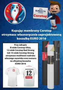 MEMBRANA DACHOWA COROTOP STRONG RED 180g/m2-(12 rolek x 75m2)
